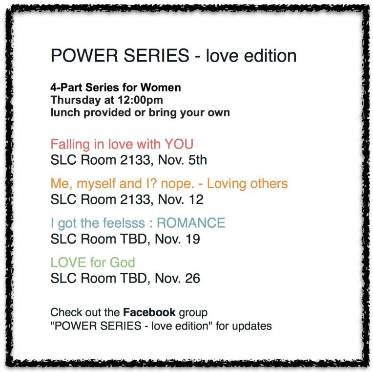 Power Series Schedule